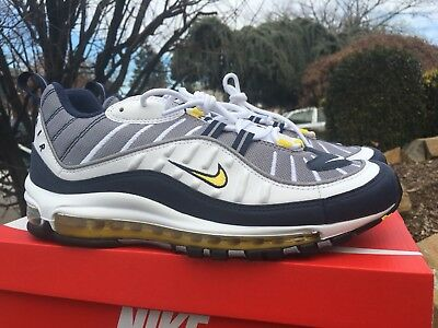 great prices outlet for sale undefeated x MEN'S NIKE AIR Max 98 OG White Tour Yellow 640744-105 sz 10 ...