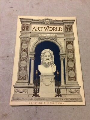 The Art World  Magazine Gustav Stickley Craftsman House Plans September 1917