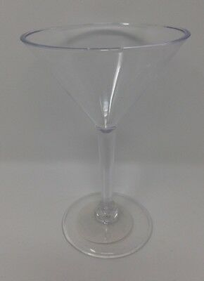 Plastic Martini Cocktail Glasses Clear Disposable Party Event BBQ Buffet Cheap!