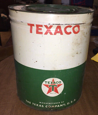 Early Vnt Texaco Axle Grease 25lb Can Gas Station Garage 1940s Era Part Full GC