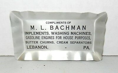 Vintage Gasoline Engines Implements Cream Separators Advertising Tray Lebanon PA