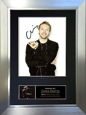 CHRIS MARTIN Coldplay Signed Autograph Mounted Photo Repro A4 Print 748