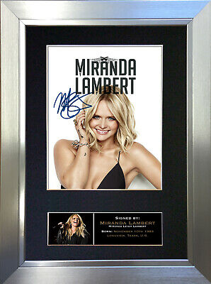 MIRANDA LAMBERT Signed Autograph Mounted Photo Repro A4 Print 753