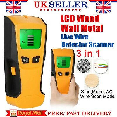 Wall Center Stud Finder Metal Ac Live Wire Detector 3In1 Wood Copper Cable Led