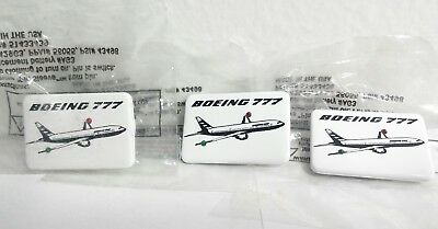 BOEING 777 Pin Light Up Lights Battery Powered Made in USA Lot of 3 NOT WORKING