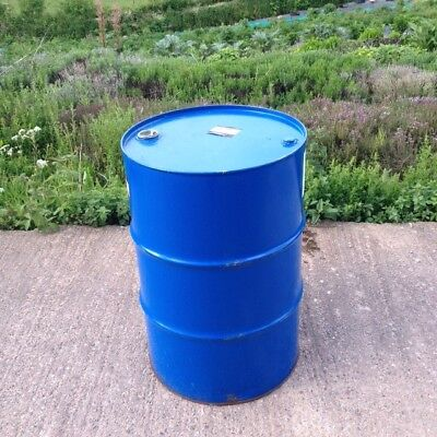 205 litre/45 gallon steel drum/barrel. Perfect for BBQs, storage, metal bins...