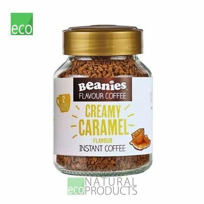 Beanies Instant Coffee Creamy Caramel Flavour 50g