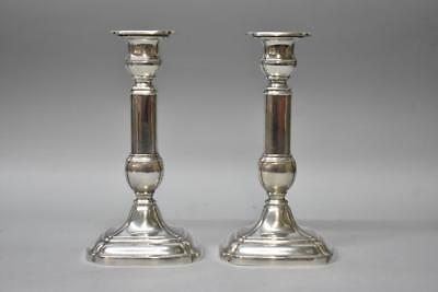 """Pair Of Georgian Sterling Silver Candlesticks By Gorham A6904 9"""""""