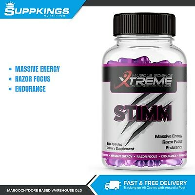 Stimm Energy Pre Workout C4 Booster 60 Capsules / Muscle Science Xtreme