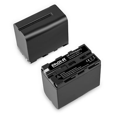 Phot-R NP-F970 7200mAh 7.4V L Series Rechargeable Li-ion Battery Pack for Sony
