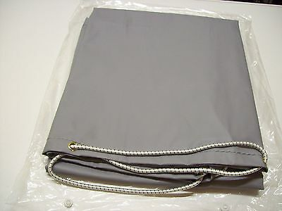 Grey Vinyl trailer cover Daxara 107 / Erde 102 /  Maypole 6810 with elastic cord