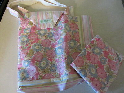 Baby Lulu Boutique Spring Daisy Floral Print Diaper Bag And Changing Pad Nwt