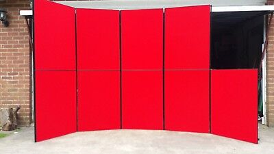 Quality Portable Exhibition Display Stand 9 Large Panels and Carry Bag