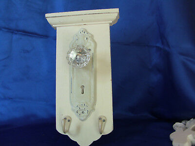 Decorative Glass Door Knob with hooks for Hanging on Wall