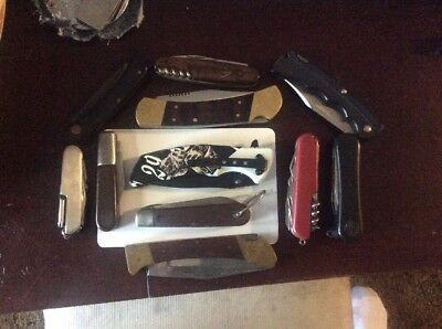 Vintage Knife Lot Of 10 Knives Case Xx Sheffield Barlow And More No Reserve