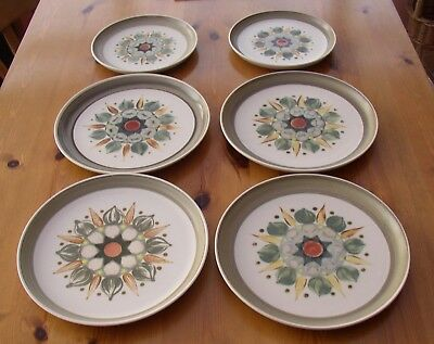 Denby Langley Sherwood 4 dinner plates and 2 salad plates
