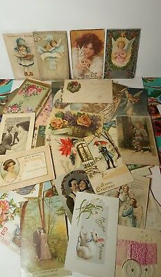 Lot Of 81 Vintage Antique Post Cards 1902-1925 Holiday Easter Christmas Floral