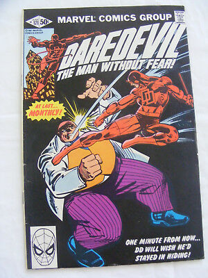 Daredevil #171 -  June 1981 -  Kingpin  - Frank Miller Cents Copy - Marvel Comic