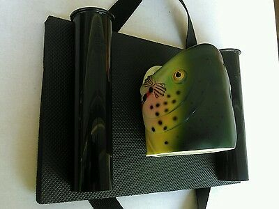 Fishing Float Tube Double Rod /pole Holder With Fish Head Drink Holder