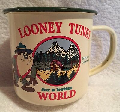 Taz,Tasmanian Devil,Camp Mug,Vintage,1992,Looney Tunes,Warner Brothers,24 oz