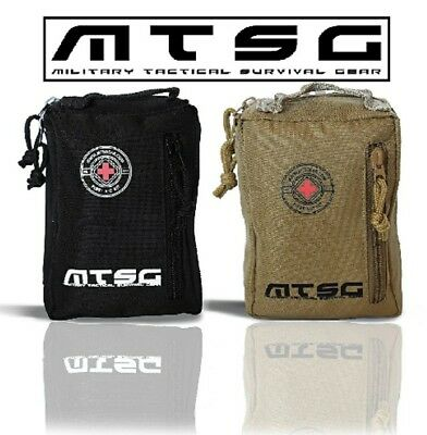 MTSG Military Tactical Survival Gear First Aid Kit for Emergency, Camping(Brown)