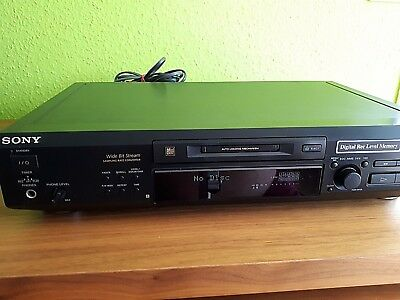 Sony Mini-Disc Player MDS-JE 520+Fernbedienung+Bedienungsanleitung+Monsterkabel