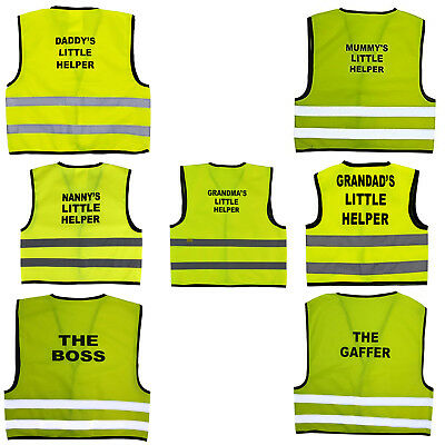 Kids High Visibility Hi Viz Safety Vest Top Hi Vis Baby Waistcoat Childrens Gift