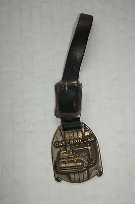 VINTAGE CATERPILLAR WATCH FOB & OLD STRAP 1940s Beckwith Machine Co Bradford PA