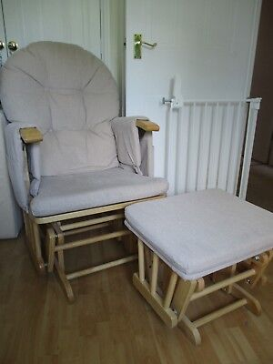 Nursing Chair Reclining/Gliding with Stool