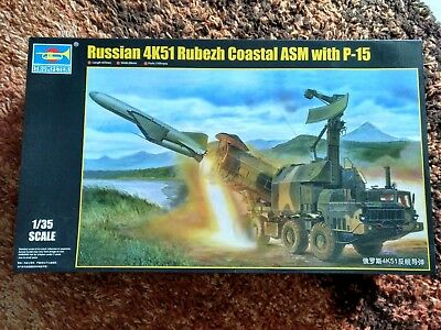 Trumpeter 1: 35 Russian 4K51 Rubezh Coastal ASM with P-15