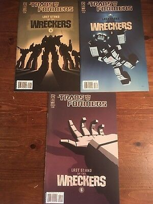 Transformers Last Stand of the Wreckers (2010) #   1, 3 and 5 Cover B