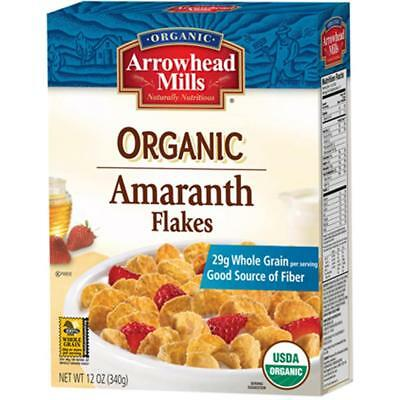 Arrowhead Mills-Organic Flakes Amaranth Cereal (12-12 oz boxes)