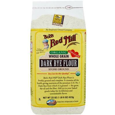 Bob's Red Mill-Organic Dark Rye Flour (4-22 oz bags)