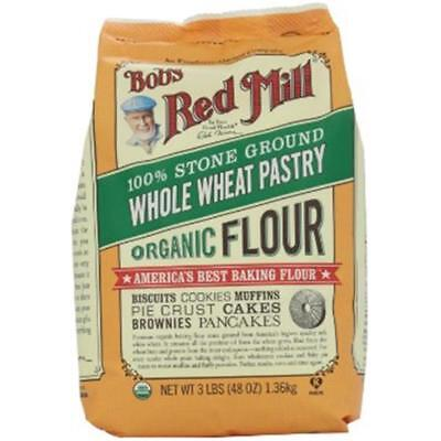 Bob's Red Mill-Organic Whole Wheat Pastry Flour (4-48 oz bags)