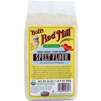 Bob's Red Mill-Organic Spelt Flour (4-24 oz boxes)