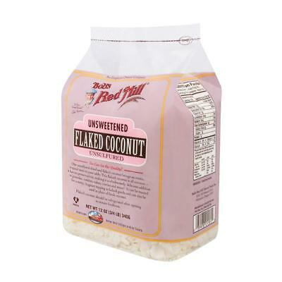Bob's Red Mill-Unsweetened Coconut Flakes (4-12 oz bags)