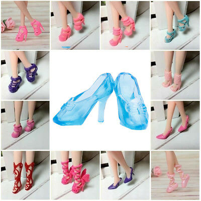 80pcs (40Pairs) Different High Heel Shoes Boots For Doll Clothes Random