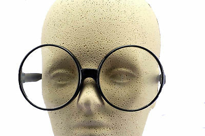 Big Round Glasses Costume Accessory Prop Fake Giant Circle Black Frames Adult