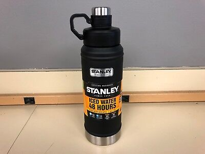 Stanley Classic Vacuum Water Bottle 36 oz Stainless Steel Insulated Black New