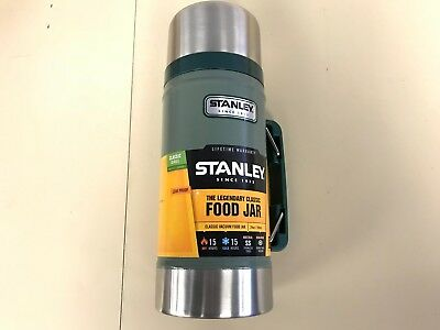 Stanley Classic Vacuum Food Jar 24 oz Stainless Steel Thermos Insulated 15 Hours