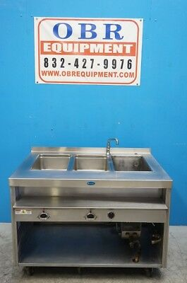 RANDELL CUSTOM Well Steam Table With Sink And Heater Booster Model - 2 well steam table