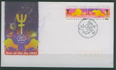 Christmas Islands 1997 Year of the Oxen  First Day Cover  APM 27290