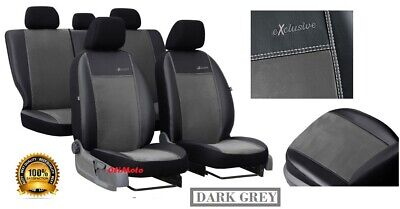 Alicante+Eco-Leather Tailored Full Set Seat Covers For Nissan Qashqai 2007 -2013