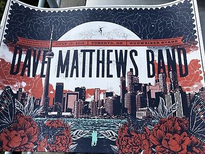 Dave Matthews Band Poster 7/10 Toronto Canada MINT ZoCA Studios #/685 SOLD OUT