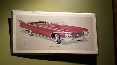 Vintage Original Plymouth Fury Convertable Metal Advertising Dealer Sign