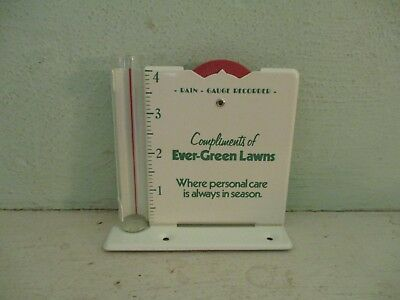 Ever-Green Lawns vintage advertising rain gauge and recorder