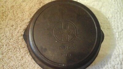 Antique Griswold #9 710XL Cast Iron Skillet with Heat Ring