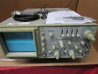 Leader 8100 Oscilloscope 100 Mhz 2 Channel