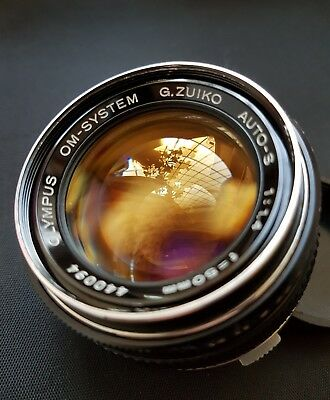 Serviced Tested Olympus  G.zuiko Auto-S 50Mm 1.4  Smooth Sharp And Bubbly Bokeh