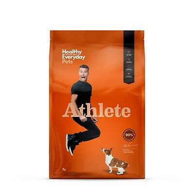 Healthy Everyday Pets by Pete Evans Grain Free Dry Dog Food - Athlete 3kg